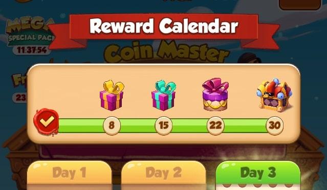Reward Calendar: free spins feature!